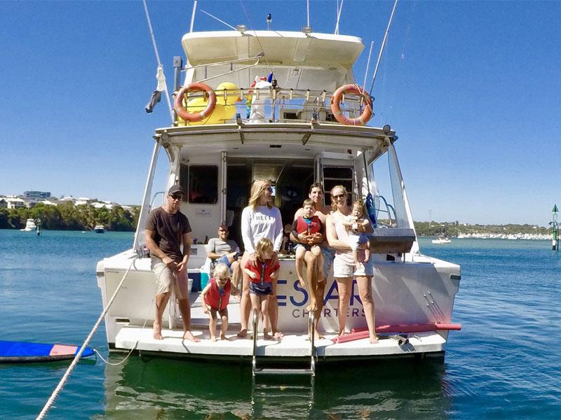 AUSTRALIA BLUE people on marlin board perth charters