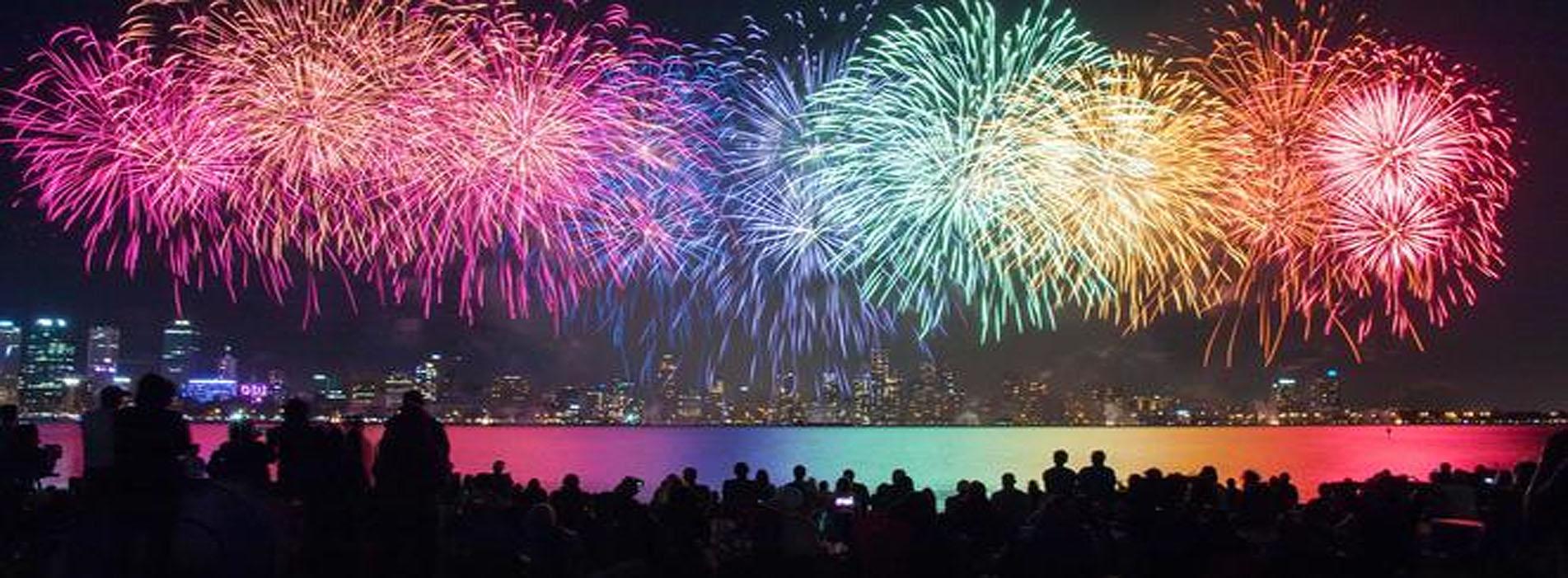 Australia Day skyshow fireworks