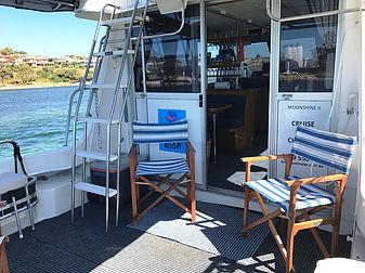 MOONSHINE boat inside