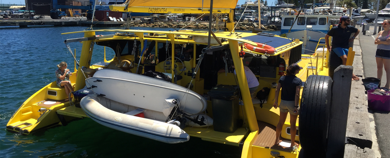 CAPELLA-departing-from-Fremantle-Rottnest-boat-charter-sailing