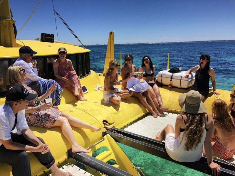 CAPELLA sail charters people on nets