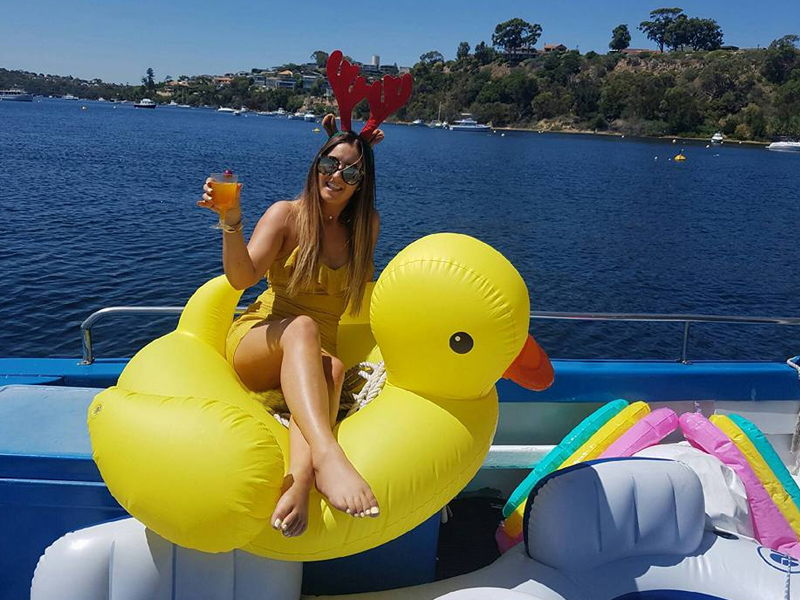 CHIQUITA swan river chaters girl on yellow duck