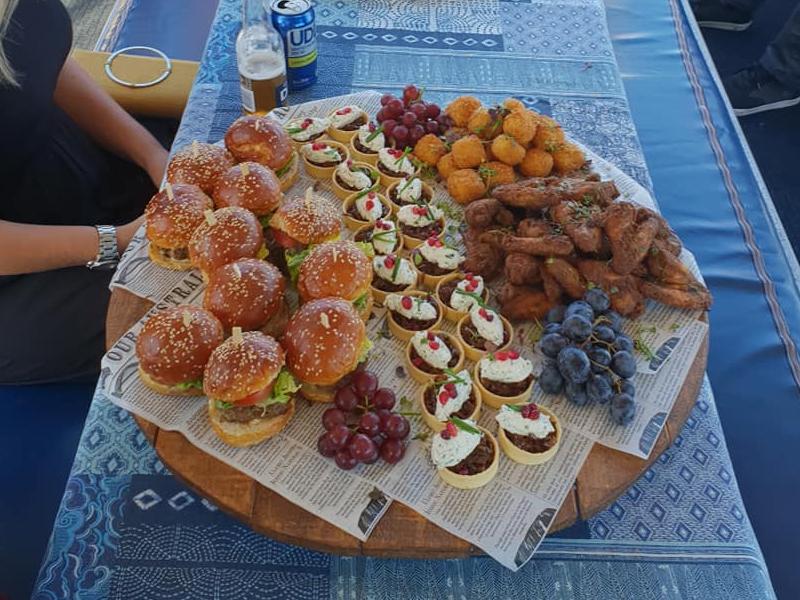 Chiquita Charters-SwanRiver boat hire food