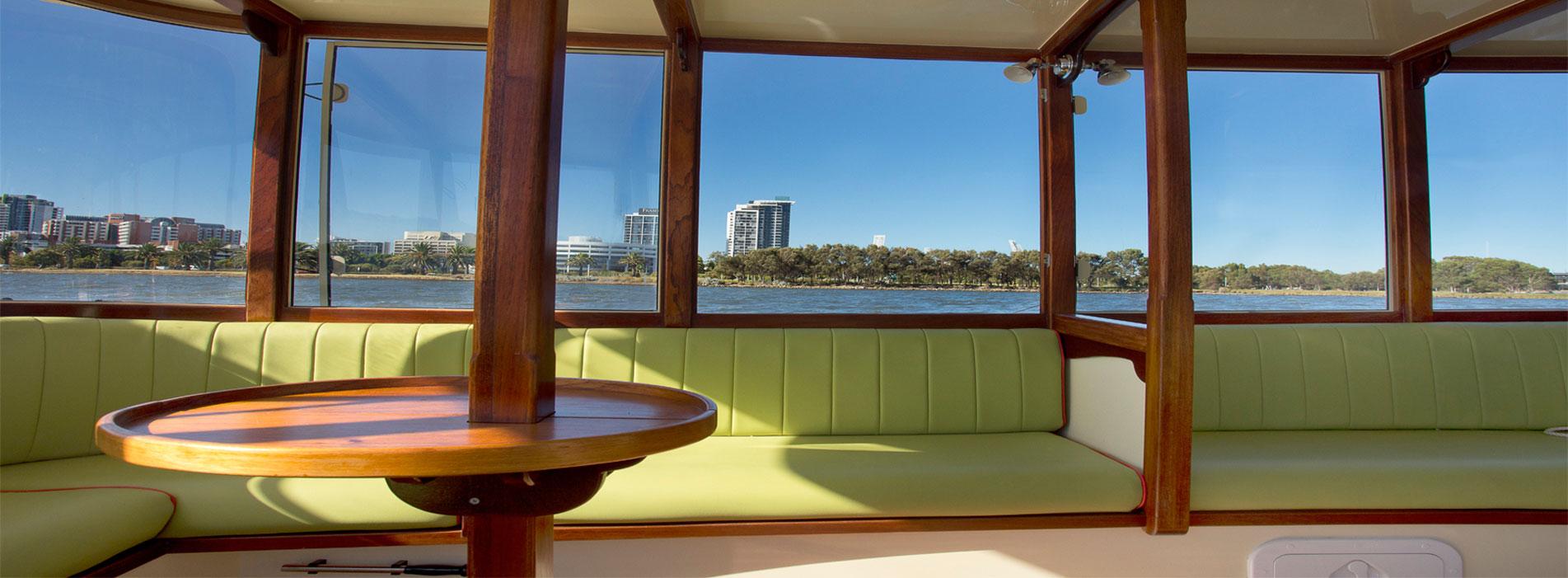ELLIE J Perth boat charter hire WA interior