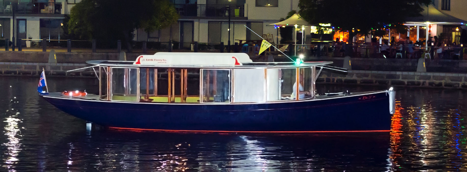ELLIE-J-at-night-boat-charter-Swan-River-East-Perth
