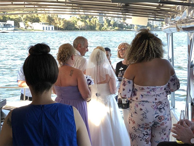 JADEN wedding on board