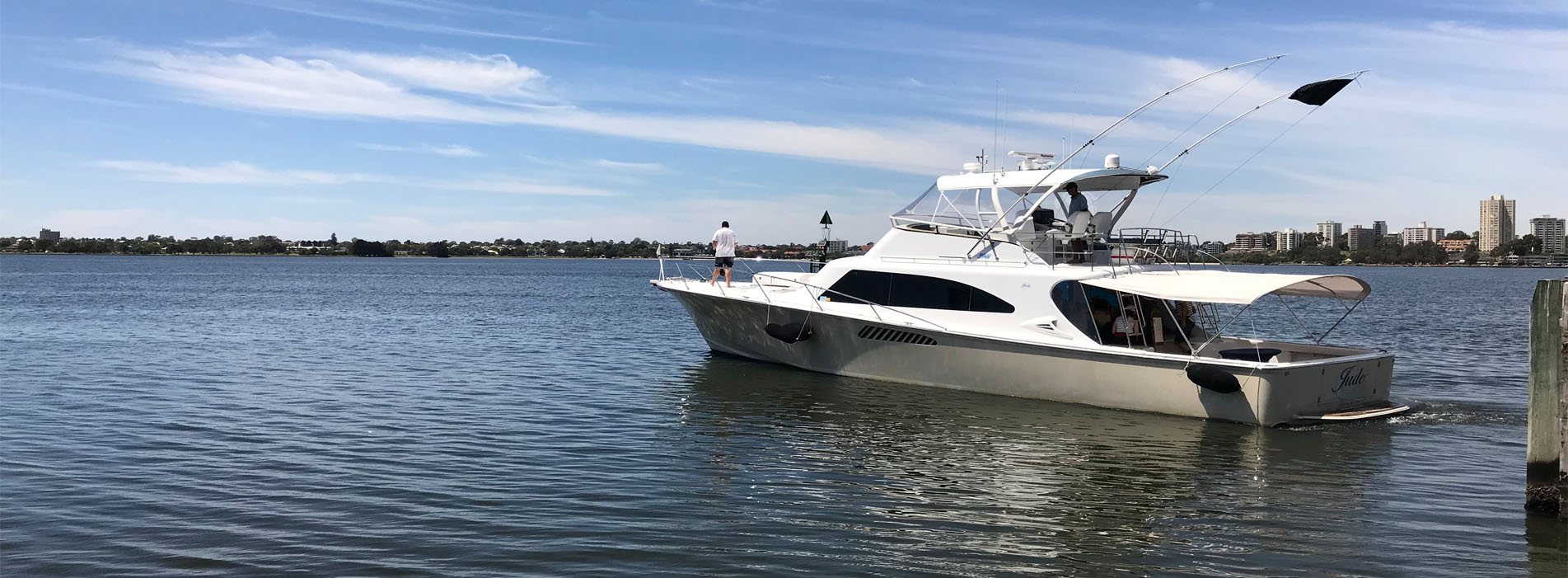 JUDE Boat charters perth luxury City