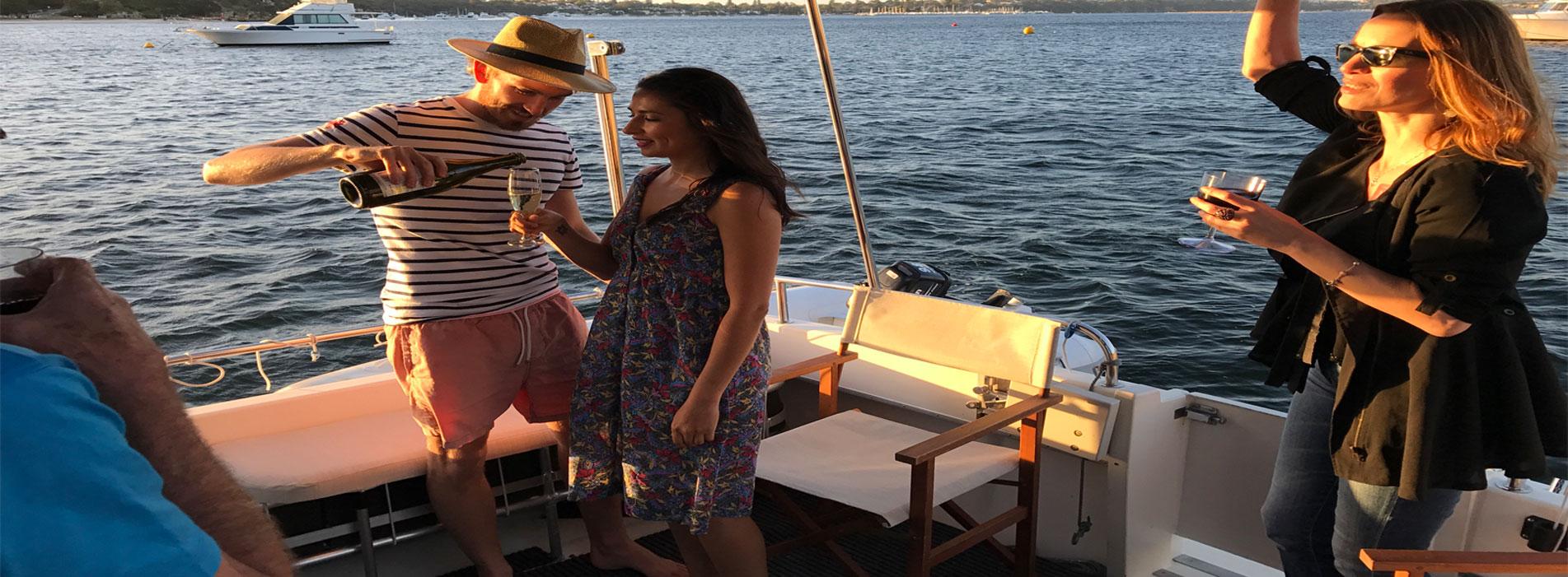 MOONSHINE-II-boat-charter-hire-perth-wa-champagne-cruise