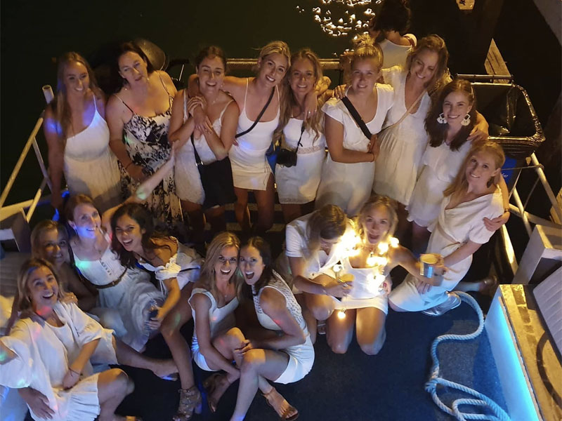 NAUTICA Charters hens party on back deck