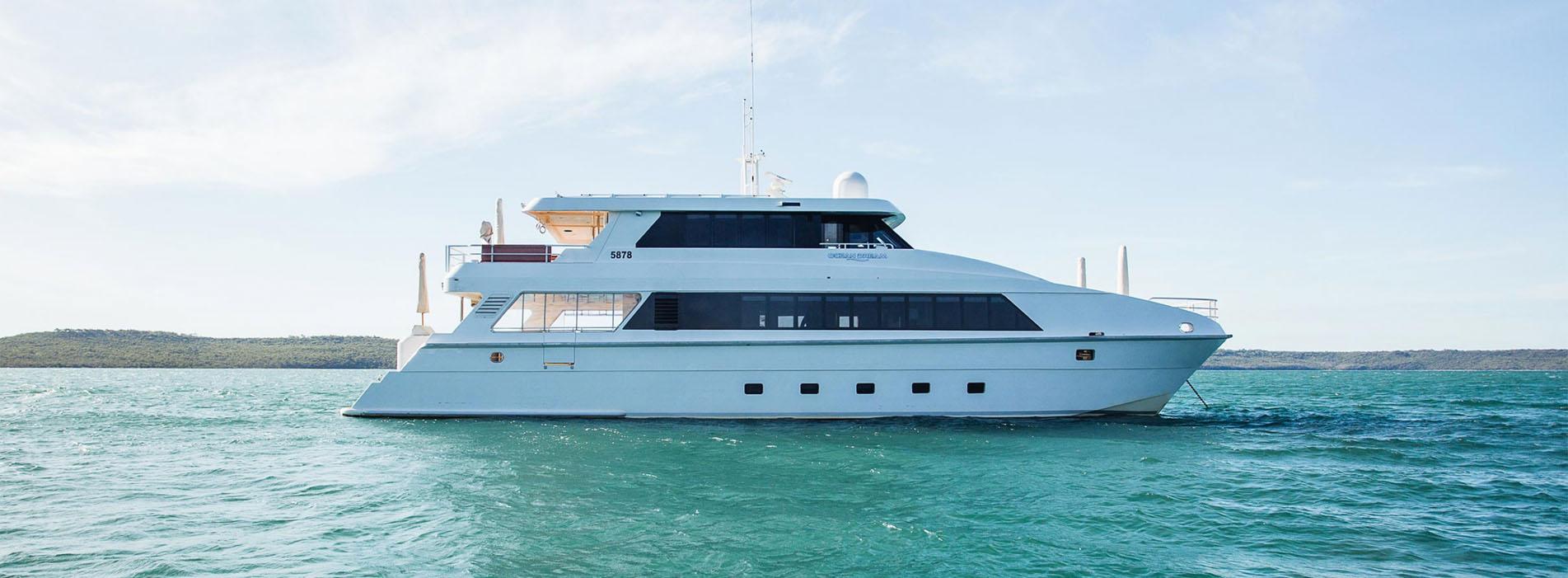 OCEAN DREAM side profile on water charters WA