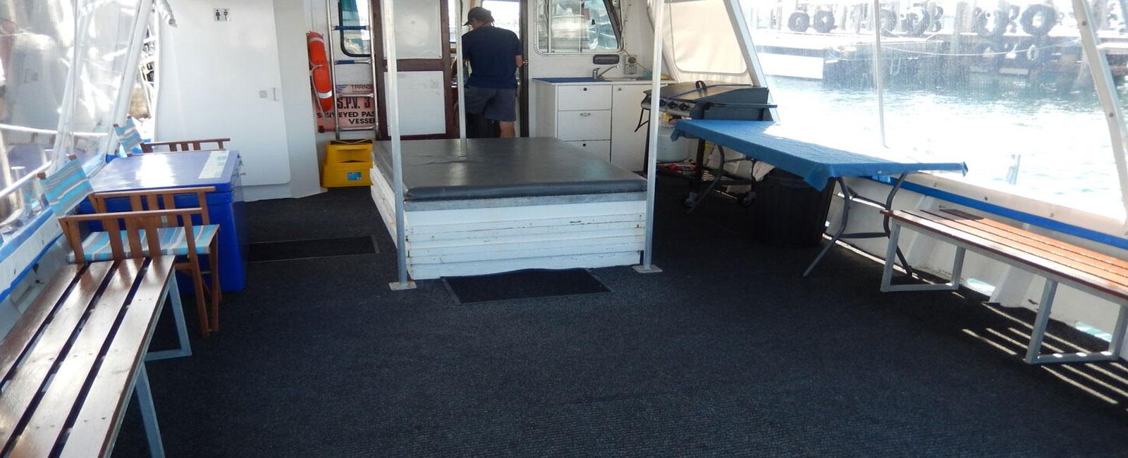 PIA REBECCA back deck view to cabin