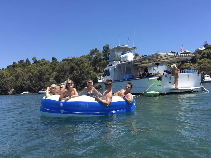 PIA REBECCA boat charters Swan River group