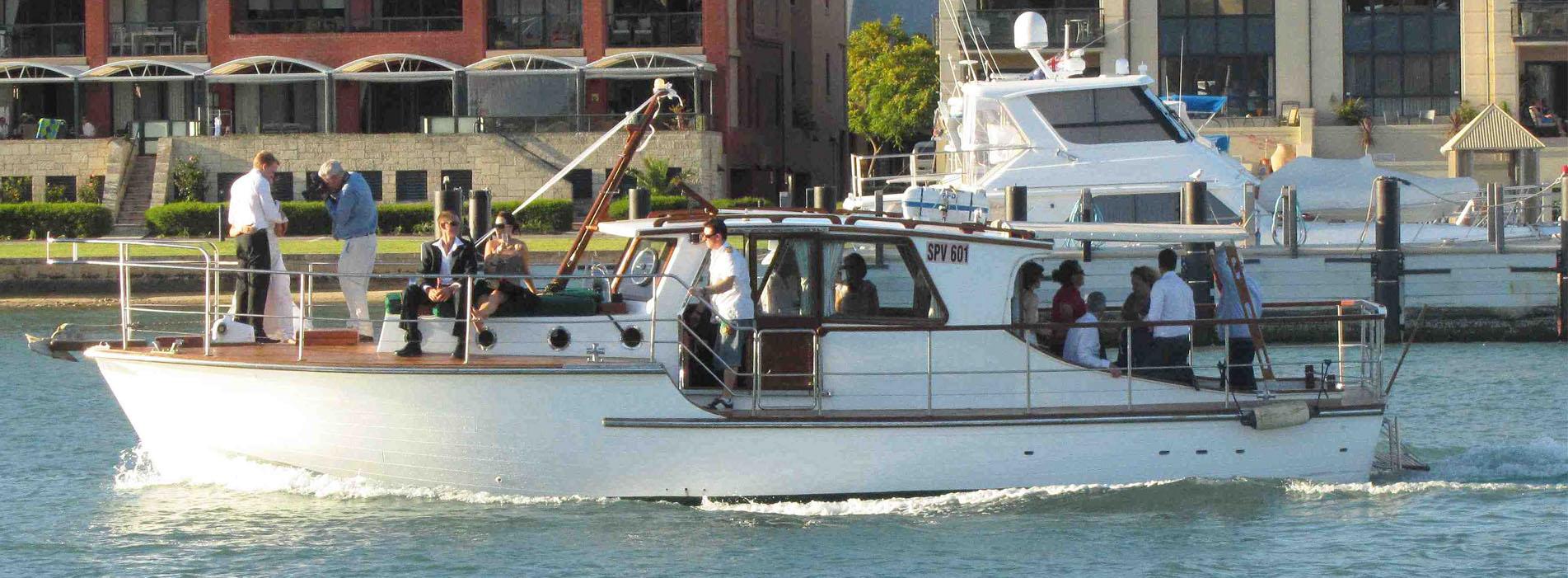 WEDDING BOAT CHARTERS and transfers Perth WA