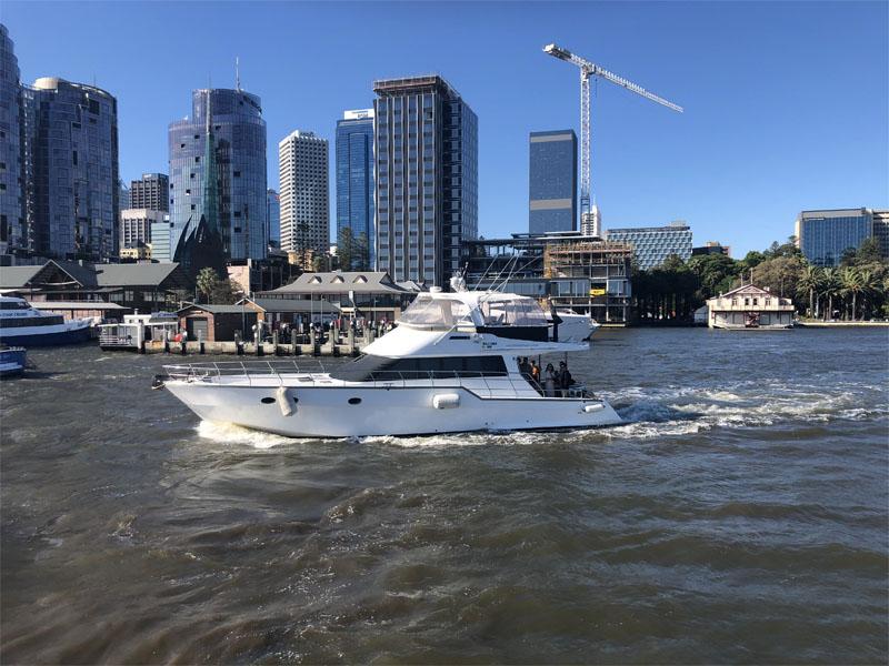 ALEGRIA boat charters perth leaving Barrack Street