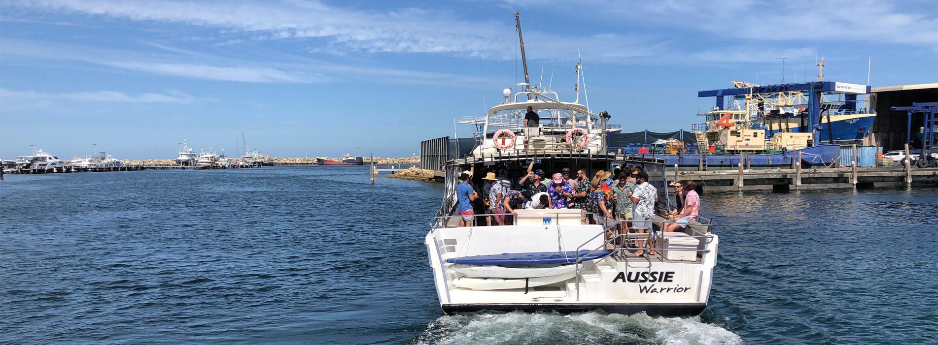 AUSSIE WARRIOR boat charter Sardine Jetty departure