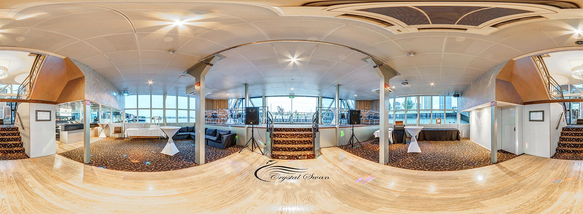 CRYSTAL SWAN BOAT CHARTER PERTH DINING DECOR