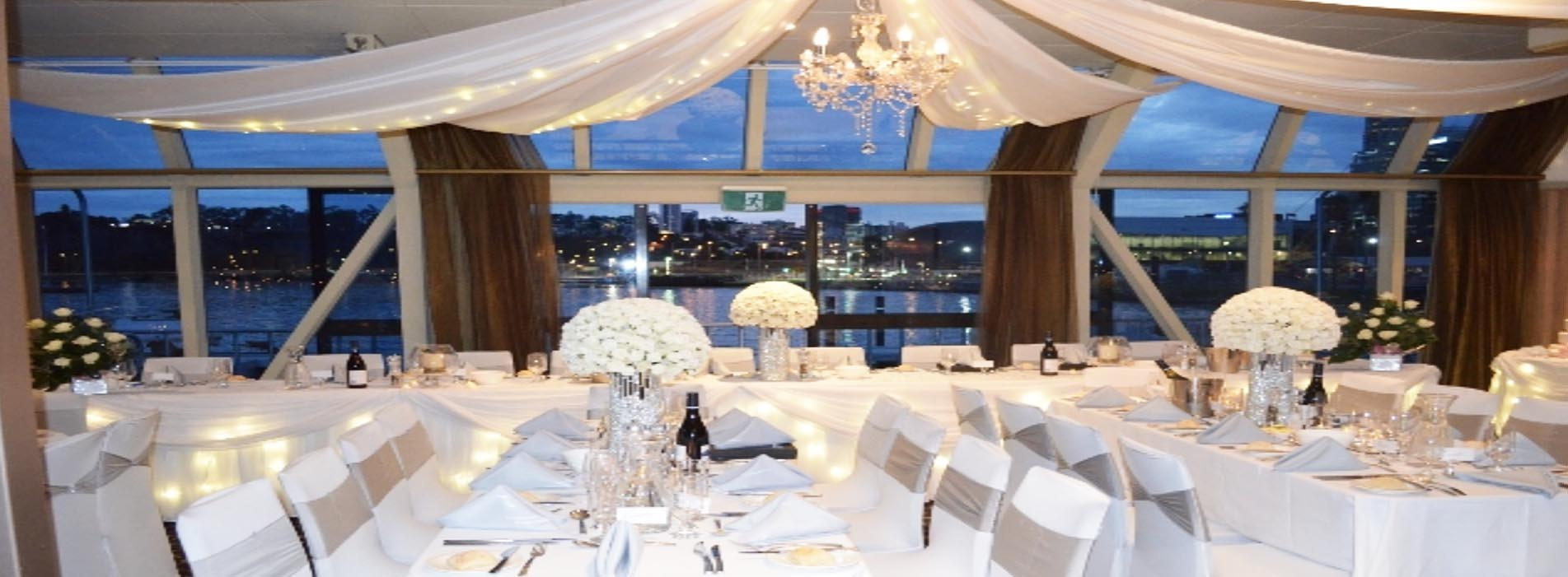 CRYSTAL SWAN WEDDING DECOR BOAT CHARTER