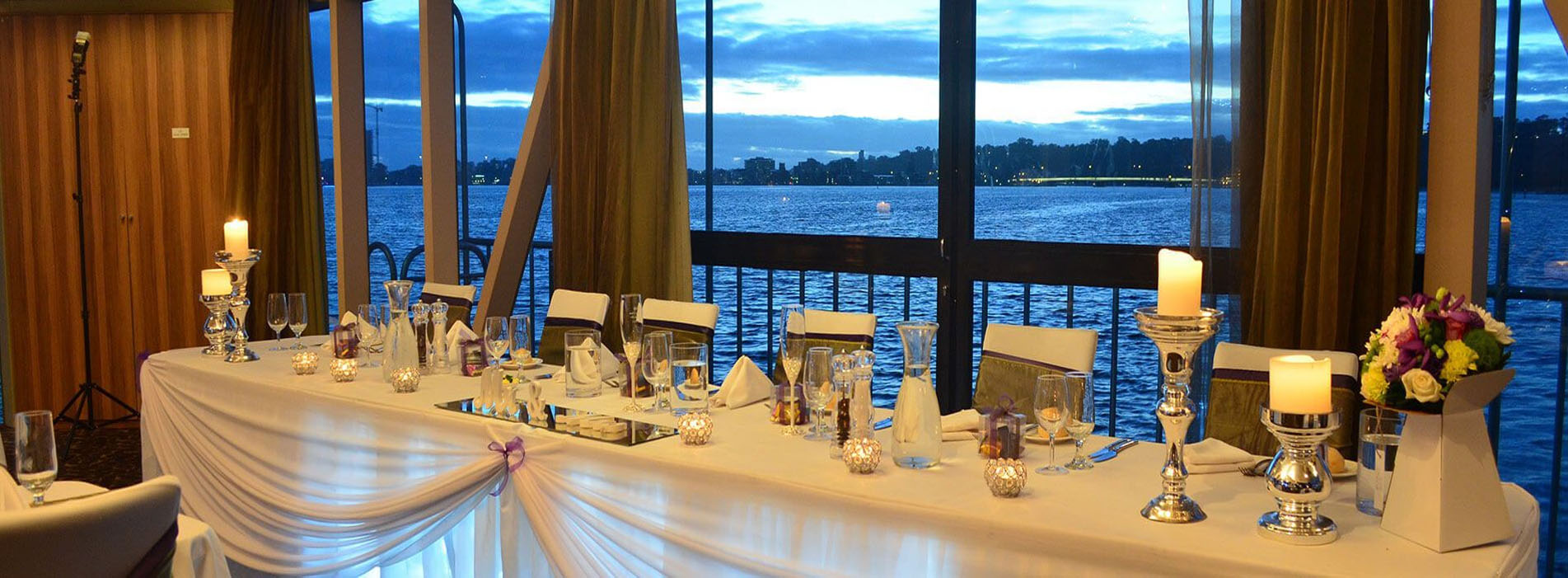 CRYSTAL SWAN wedding river charter venue s