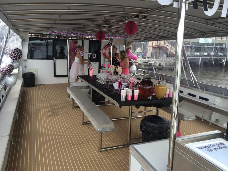 HIGHLAND SPIRIT boat charters hens deck