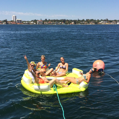 HIGHLAND SPIRIT girls on floaties Swan River charters