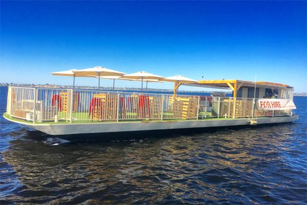 HULA-BULA-party-boat-hire-Perth-WA-Swan-River