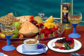 JUDE Boat charters fruit platter