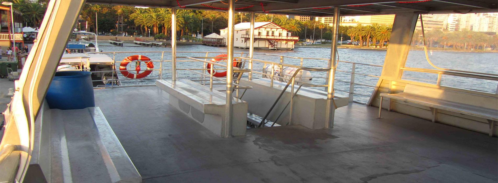 LIONFISH IV charters perth upper deck