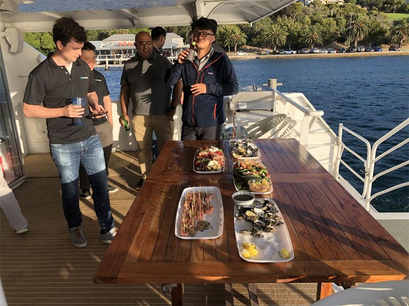 SILVERADO Boat charters Swan River catering BlueSun2