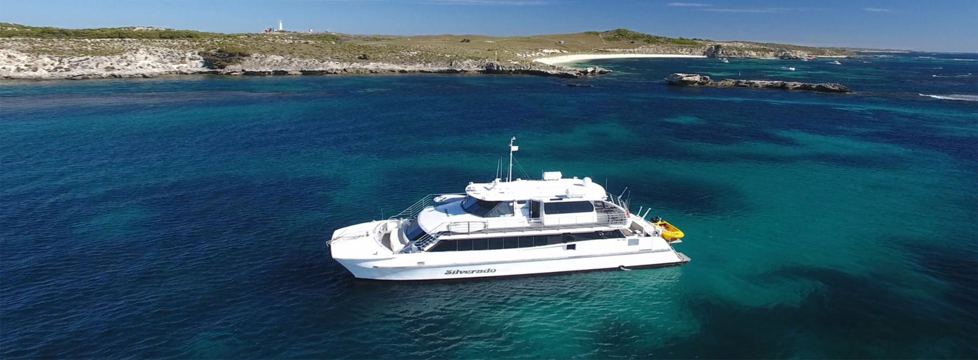 SILVERADO boat charters Rottnest Island drone photos