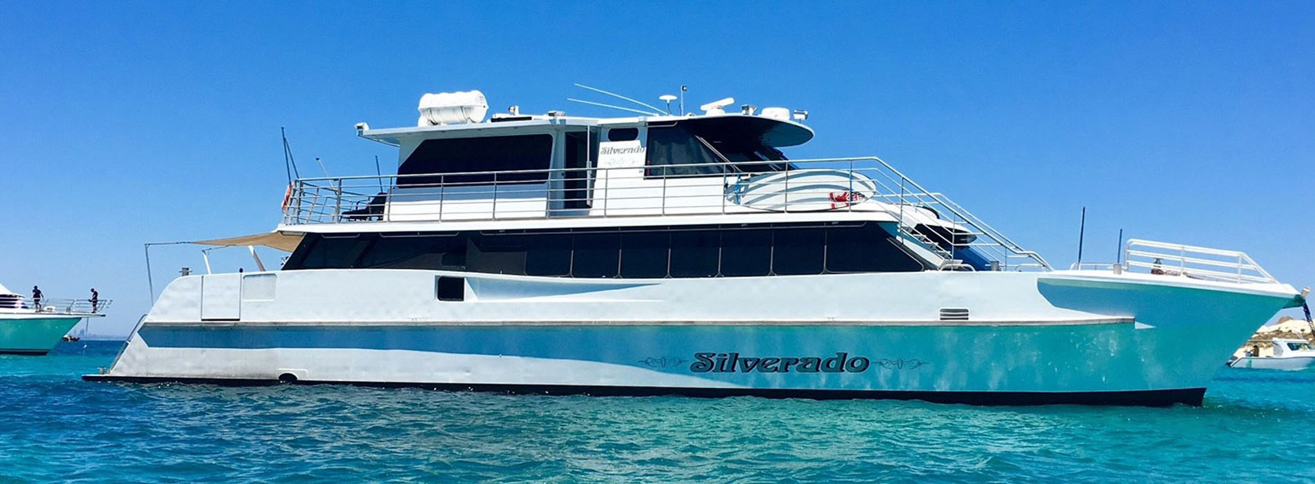 SILVERADO boat charters perth side profile photo Rottnest