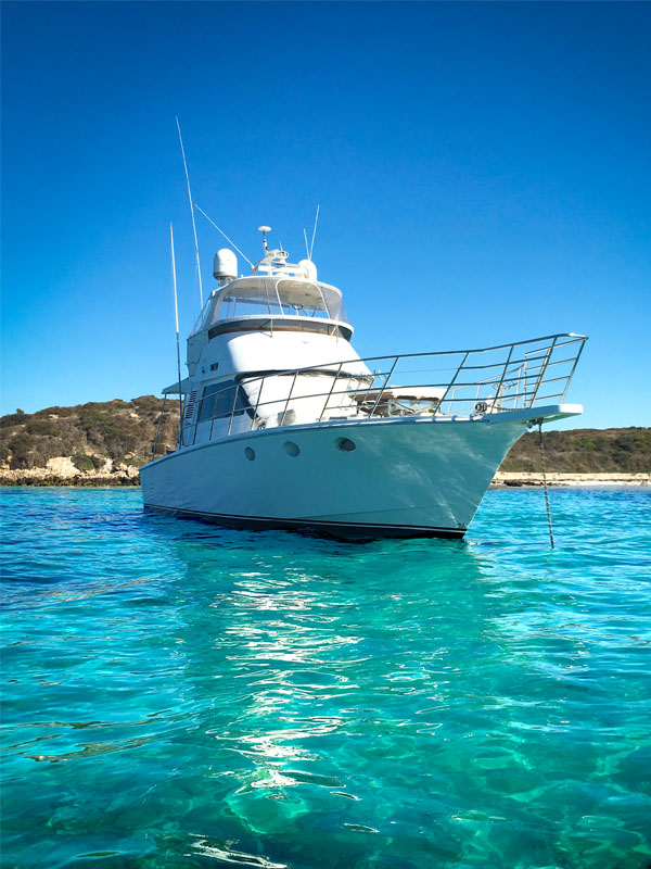 TENACIOUS Perth boat charters Carnac Island