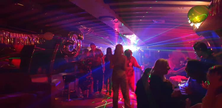 THE DECK party boat charers Perth WA lights