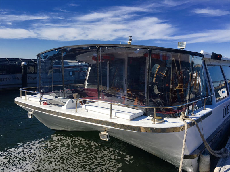 THE DECK party boat charters swan river front of boat