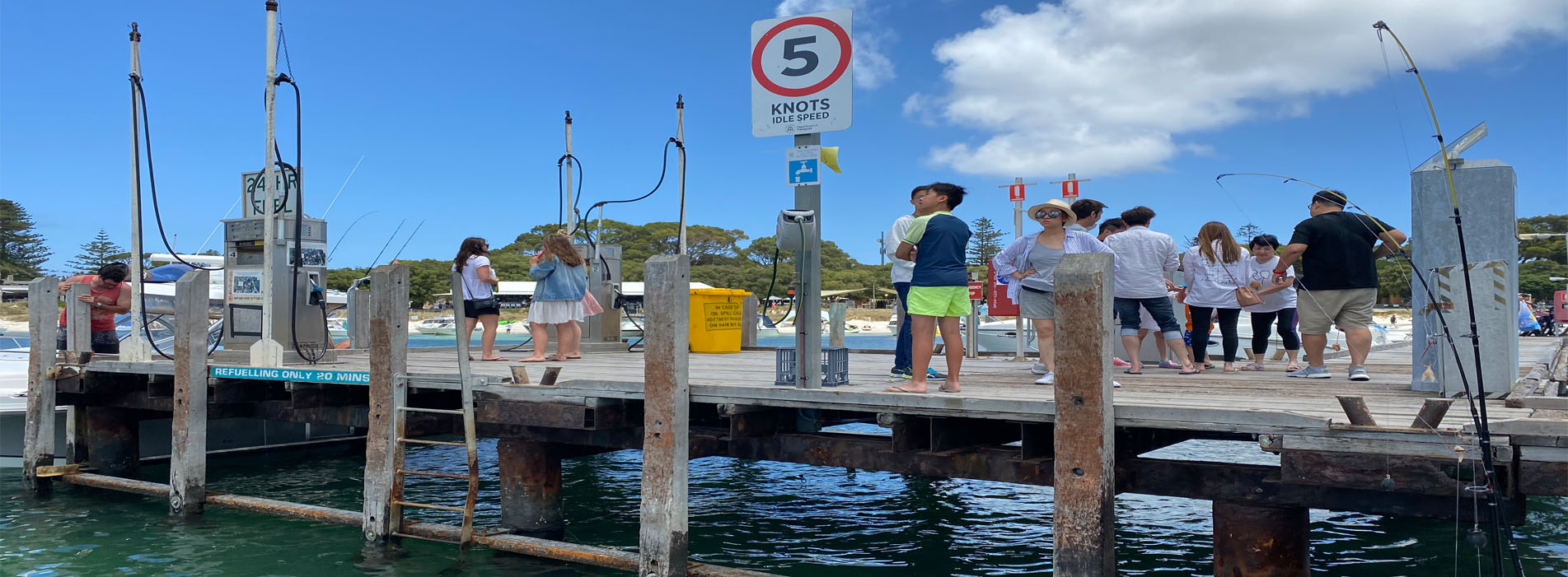 THOMSON BAY FUEL JETTY clients waiting for pick up