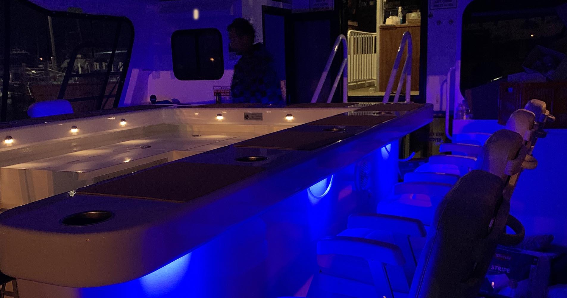 TWO SEAS BAR AT NIGHT BOAT CHARTER