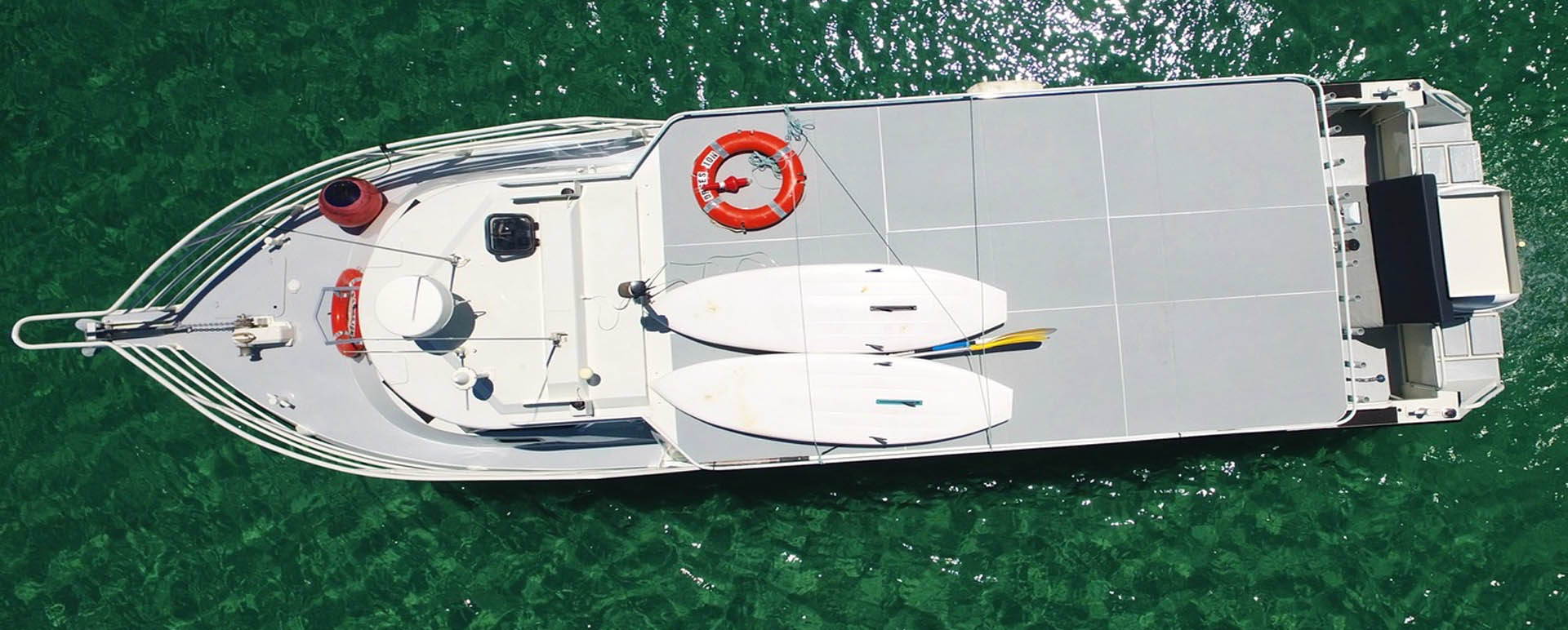 OBSESSION AERIAL SHOT PERTH BOAT CHARTER