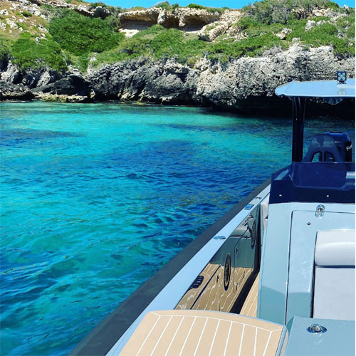 PIGLET at Carnac Island for boat charter Perth