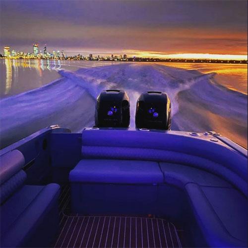PIGLET boat charter evening sunset Swan River