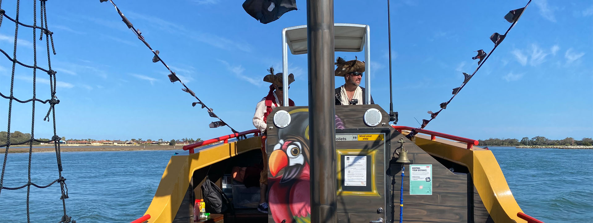 MANDURAH TOURS pirate ship slider