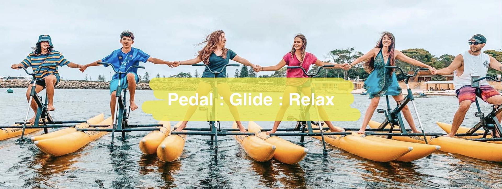 Perth peddle water bikes
